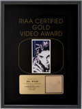 "Music Memorabilia:Awards, Prince ""Sexy MF"" RIAA Gold Video Award. ..."