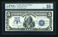 Large Size:Silver Certificates, Fr. 280 $5 1899 Mule Silver Certificate PMG Choice Very Fine 35 EPQ....