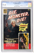 Silver Age (1956-1969):Horror, Movie Classics - Die, Monster, Die #nn File Copy (Dell, 1966) CGCNM 9.4 Off-white to white pages....