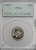 Proof Roosevelt Dimes: , 1950 10C PR66 PCGS. PCGS Population (539/203). NGC Census:(196/244). Mintage: 51,386. Numismedia Wsl. Price for NGC/PCGS c...