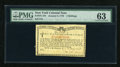 Colonial Notes:New York, New York January 6, 1776 (Water Works) 4s PMG Choice Uncirculated63....