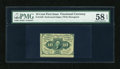 Fractional Currency:First Issue, Fr. 1240 10¢ First Issue PMG Choice About Unc 58 EPQ....