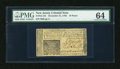 Colonial Notes:New Jersey, New Jersey December 31, 1763 18d PMG Choice Uncirculated 64....