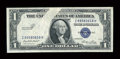 Error Notes:Obstruction Errors, Fr. 1614 $1 1935E Silver Certificate. Extremely Fine-About Uncirculated.. ...