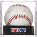 Autographs:Baseballs, Luis Aparicio Single Signed Baseball, PSA Mint 9...