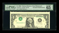 Error Notes:Inverted Third Printings, Fr. 1914-E $1 1988 Federal Reserve Note. PMG Gem Uncirculated 65EPQ.. ...