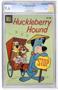 Huckleberry Hound #3 File Copy (Dell, 1960) CGC NM+ 9.6 Off-white to white pages