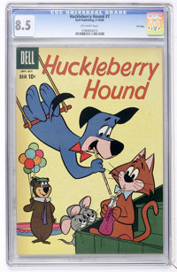 Huckleberry Hound #7 File Copy (Dell, 1960) CGC VF+ 8.5 Off-white pages