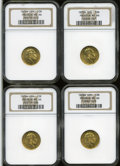 German Lots, German Lots: Prussia Wilhelm gold 1872A 10 Mark quartet,... (Total: 4 coins)