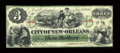 Obsoletes By State:Louisiana, New Orleans, LA- City of New Orleans $3 Jan. 1, 1868. ...