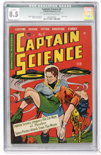 Captain Science #2 (Youthful Magazines, 1951) CGC Qualified VF+ 8.5 Off-white to white pages