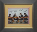 Music Memorabilia:Autographs and Signed Items, Monkees Autographed Photo....