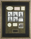 Music Memorabilia:Autographs and Signed Items, Manfred Mann Framed Autographs....