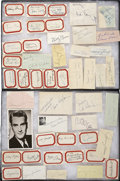 Music Memorabilia:Autographs and Signed Items, 1940s Big Band Stars Autograph Lot....
