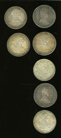 Mexico, Mexico: Seven-piece lot of 8 Reales including:... (Total: 7 coins)