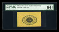 Fractional Currency:First Issue, Fr. 1231SP 5c First Issue Back Proof PMG Choice Uncirculated 64EPQ. ...