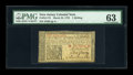 Colonial Notes:New Jersey, New Jersey March 25, 1776 1s PMG Choice Uncirculated 63....
