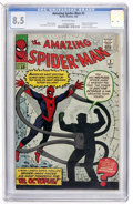 Silver Age (1956-1969):Superhero, The Amazing Spider-Man #3 (Marvel, 1963) CGC VF+ 8.5 Off-whitepages....