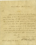 Autographs:U.S. Presidents, George Washington Letter Signed as President....
