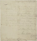 "Autographs:Statesmen, [John Hancock] Perez Morton Autograph Letter Signed to JohnHancock, one page, 7.25"" x 8"", Council Chambers, January 19, 177..."