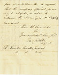 Autographs:Military Figures, [Revolutionary War] Two British Gen. Sir Banastre TarletonLetters,... (Total: 2 Items)
