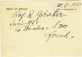 Autographs:Non-American, Sigmund Freud Autograph Document Signed....