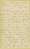 Autographs:Military Figures, General Marcus A. Reno Autograph Letter Signed....