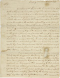 "Autographs:U.S. Presidents, George Washington Letter Signed ""Go: Washington,"" asCommander-in-Chief, two pages, 7.5"" x 9.75"", Reading Furnac..."