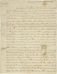 "George Washington Letter Signed ""Go: Washington,"" as Commander-in-Chief, two pages"