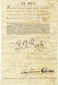 Autographs:Non-American, [Charles IV] Document Stamped Signature....