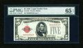 Small Size:Legal Tender Notes, Fr. 1525 $5 1928 Legal Tender Note. PMG Gem Uncirculated 65 EPQ.. ...