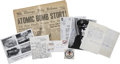 Autographs:Military Figures, Atomic Bomb--Collection of Nine Items.... (Total: 9 Items)