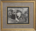 Autographs:Military Figures, General George S. Patton Photograph Inscribed. B/w photograph ofthe general in uniform sitting in the cockpit of a World Wa...