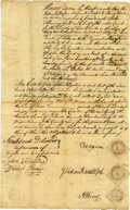Autographs:Statesmen, [Thomas Jefferson] Peter Jefferson Document Signed....