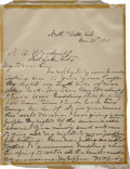 "Autographs:Celebrities, William ""Buffalo Bill"" Cody Autograph Letter Signed ..."