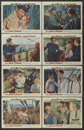 "Movie Posters:War, The Sea Chase (Warner Brothers, 1955). Lobby Card Set of 8 (11"" X14""). War.... (Total: 8 Items)"