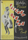 "Movie Posters:Comedy, The Seven Year Itch (20th Century Fox, 1955). Swedish One Sheet (27.5"" X 39.5""). Comedy...."