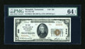 National Bank Notes:Tennessee, Memphis, TN - $20 1929 Ty. 2 The First NB Ch. # 336. ...