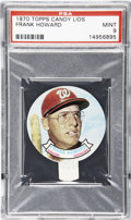 Baseball Cards:Singles (1970-Now), 1970 Topps Candy Lids Frank Howard PSA Mint 9....