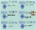 Boxing Collectibles:Autographs, 1990 Boxing Hall of Famers Signed First Day Covers Lot of 6....(Total: 6 items)