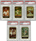 Baseball Cards:Lots, 1969 Nabisco Team Flakes PSA NM-MT 8 Group Lot of 5.... (Total: 5 cards)