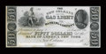 Obsoletes By State:Louisiana, New Orleans, LA- The New Orleans Gas Light & Banking Company $50 G16 Proof. ...