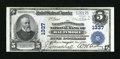 National Bank Notes:Maryland, Baltimore, MD - $5 1902 Plain Back Fr. 598 The Farmers &Merchants NB Ch. # 1337. ...