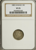 Coins of Hawaii: , 1883 10C Hawaii Ten Cents VF25 NGC. NGC Census: (6/260). PCGSPopulation (29/392). Mintage: 250,000. (#10979)...