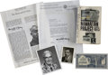 Autographs:Inventors, Group of Items Signed by Scientists of The Manhattan Project....(Total: 13 Items)