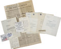 Autographs:Celebrities, [Charles Lindbergh] Family Archive.... (Total: 17 Items)