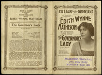 """The Governor's Lady (Famous Players Corp., 1915). Herald (5.5"""" X 8""""). Drama"""