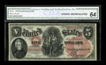 Large Size:Legal Tender Notes, Fr. 68 $5 1875 Legal Tender CGA Choice Uncirculated 64....