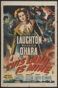 "Movie Posters:War, This Land Is Mine (RKO, 1943). One Sheet (27"" X 41""). War...."
