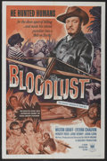 """Movie Posters:Horror, Bloodlust (Crown International, 1961). One Sheet (27"""" X 41""""), and Lobby Card Set of 8 (11"""" X 14""""). Horror.. ... (Total: 9 Items)"""